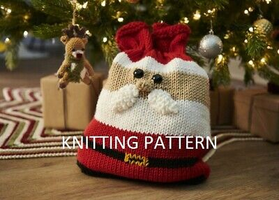 £1.99 • Buy (783) Father Christmas Gift Bag COPY Knitting Pattern, In Super Chunky Yarn