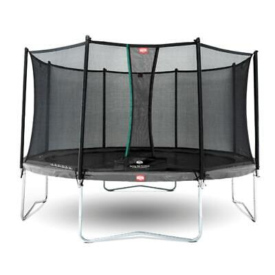 AU879 • Buy Berg Favorit Grey With Safety Net Comfort - 270 CM Diameter Medium 8FT NEW