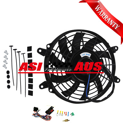 AU64 • Buy 9 Inch Intercooler Radiator Cooling 12V Thermo Fan Mounting Pull/Push+Relay Kit