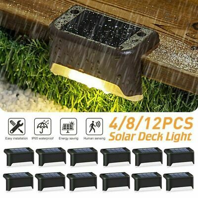 £9.99 • Buy 12PCS LED Solar Powered Fence Wall Lights Garden Lamp Step Path Decking Outdoor