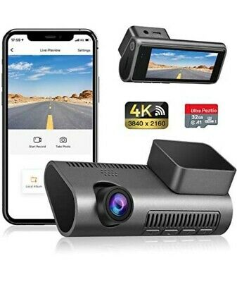 Dash Cam WiFi 4K Ultra HD 2160P Car Dash Cam With SD Card Included, Dashcams For • 68.99£