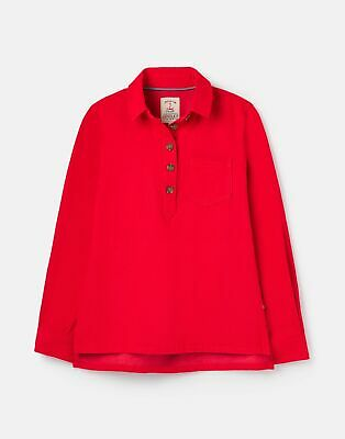 £19.16 • Buy Joules Womens 210183 Pop Over Deck Shirt - Red