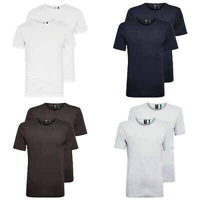 £28.95 • Buy G-Star T-Shirt - Double Pack Crew Neck Tee - Slim Fit -Black, White, Grey, Blue