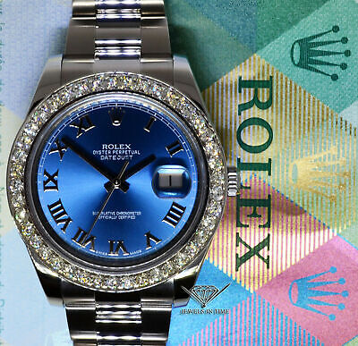$ CDN12798.74 • Buy Rolex Datejust II Steel 3.30 CT Diamond Bezel Mens 41mm Watch 116334