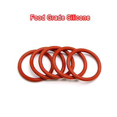 AU4.65 • Buy 4mm Wire Diameter,  Red Food Grade Silicone O-Ring, 15mm-80mm OD, O Rings Seals