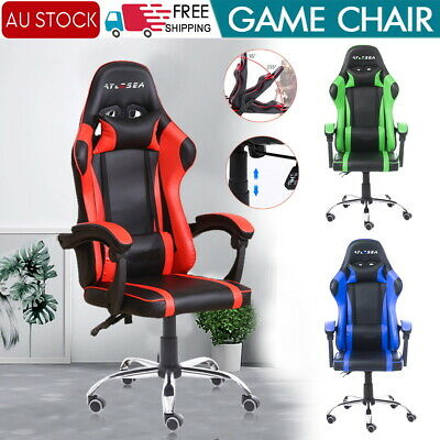 AU112.88 • Buy Gaming Chair Office Seating Racing Computer PU Leather Executive Racer AU