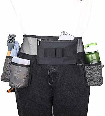 AU42.99 • Buy Cleaning Tool Belt With 4 Pockets And 3 Elastic Slots, Nylon Mesh Adjustable