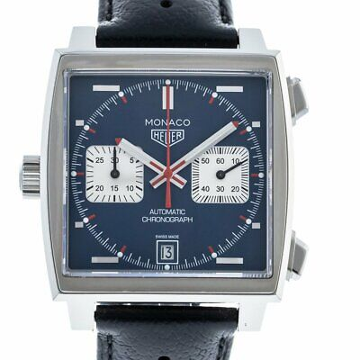 £3996.28 • Buy TAG Heuer CAW211PFC6356 Steve McQueen Monaco Calibre 11 Leather Strap 39mm