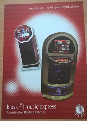 Sound Leisure Kiosk 2 / Music Express Digital Jukebox Sales Brochure / Flyer • 5£