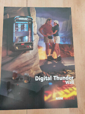 NSM Digital Thunder Wall CD Wallbox Jukebox Sales Brochure / Flyer • 8£