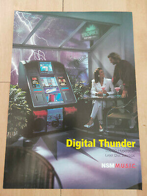 NSM Digital Thunder HyberBeam CD Jukebox Sales Brochure / Flyer • 8£