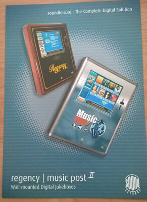 Sound Leisure Regency / Music Post2 Digital Wallbox Jukebox Sales Brochure Flyer • 5£