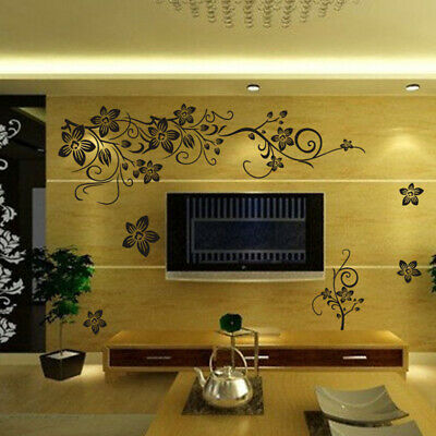 £3.45 • Buy 130X80CM Flower Butterfly Tree Wall Sticker Decal Home Decoration Self-Adhesive