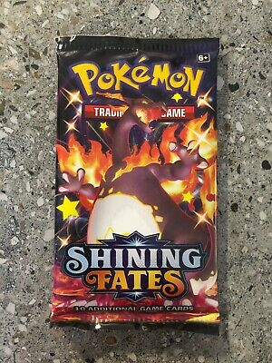 AU11.35 • Buy Pokemon TCG Cards 1x Shining Fates Booster Pack Genuine Unweighed Factory Sealed