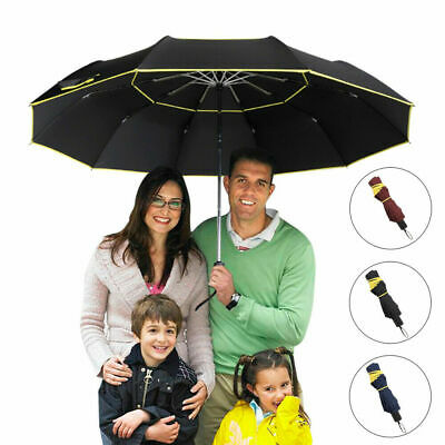 AU26.43 • Buy 62  Extra Oversize Large Compact Golf Windproof Umbrella Double Canopy Vented