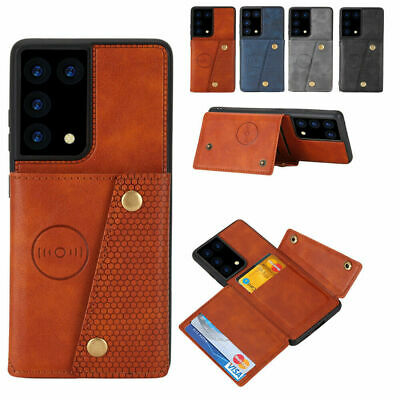 AU15.89 • Buy For Samsung S20FE S21Ultra S20 S10 S9 S8 A20 A50 Wallet Case Leather Card Cover