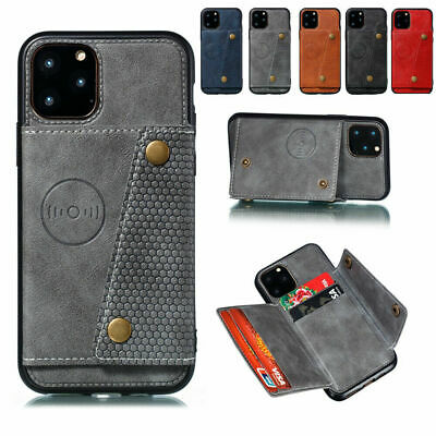 AU15.89 • Buy For IPhone 12 Pro 11 Pro Max XS 7+ 8 Wallet Card Slot Stand Case Cover Anti-fall