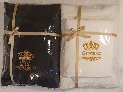 £20 • Buy Name With Crown Personalised Embroidered Towels  Gift Valentine Birthday Present