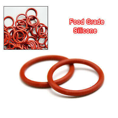 AU2.65 • Buy Red Food Grade Silicone O-Ring O Rings, 12mm - 50mm OD, 1mm - 5mm Wire Diameter