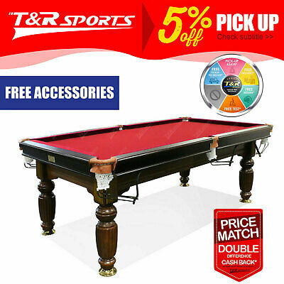 AU1280.99 • Buy 2017 Model 7ft Walnut Red Pool Snooker Billiards Table Slate With Accessaries