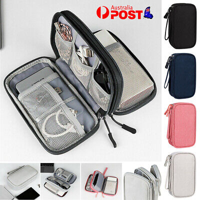 AU11.99 • Buy Digital Gadget Storage Pouch Tool Bag Travel USB Cable Earphone Case Organizer