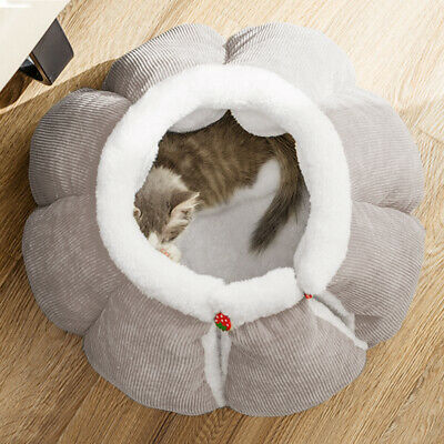 £11.96 • Buy Cat Small Dog Cosy Bed Pets Igloo Bed Hideout Cave Comfortable Microfiber Basket