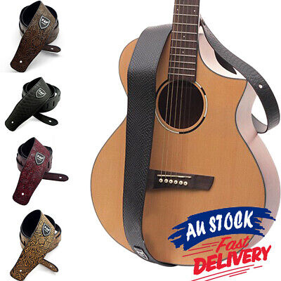 AU14.25 • Buy Adjustable Luxury Classic Soft Basses Electric Guitar Strap PU Leather Acoustic