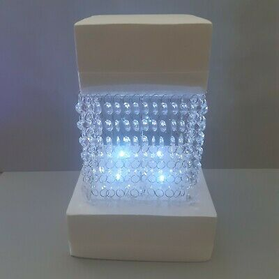 £34.99 • Buy Square Acrylic Crystal Wedding Cake Stand Kit With Crystals & LED Lights 6 -14