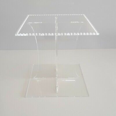 £24.99 • Buy Square Acrylic Wedding Cake Separator Stand For Crystals - Crystals Not Included