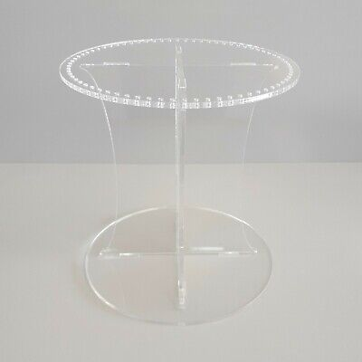 Round Acrylic Wedding Cake Separator Stand For Crystals - Crystals Not Included • 17.99£