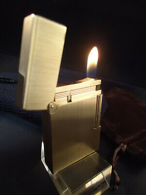 AU332.97 • Buy S.T. Dupont GATSBY Lighter - Brushed Finish - Gold Plated