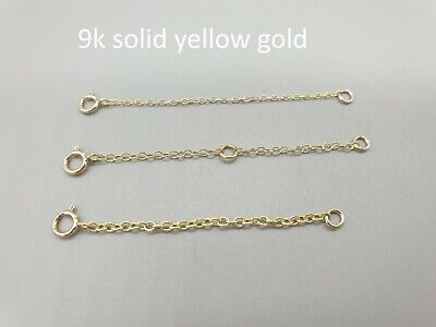 £10 • Buy 9k 9ct Yellow Gold Fine Chain Bracelet Extender Extension Safety Chain 1  2  3