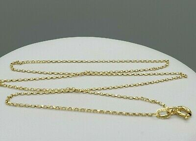 £58.90 • Buy Sparkly 9k 9ct Yellow Gold Diamond Cut 1.1mm Trace Chain 14  16  18  20  22''