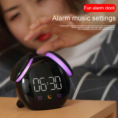 AU35.04 • Buy Kids Alarm Clock Colorful Light Wake Up Touch Control Rechargeable Battery Smart