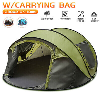 AU85.67 • Buy 5-8 Person Instant Pop Up Tent Family Waterproof Dome Hiking Beach Camping Tent.