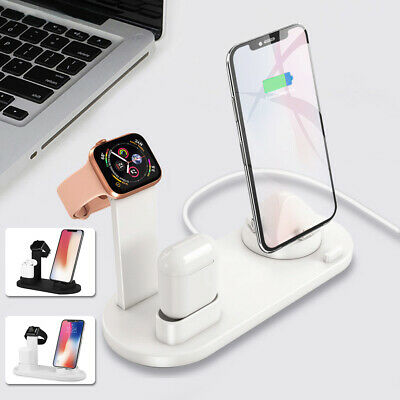 AU25.79 • Buy 3in1 Charging Dock Station Charger Stand For AirPods/Apple Watch Series/ IPhone.