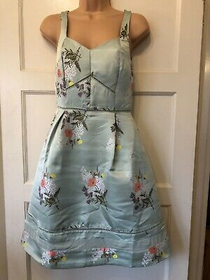 AU40.59 • Buy Oasis Size 8 Dress Occasion Wedding Party Mint Green Jacquard New+tags