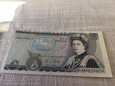 Old Five £5 Pound Note  Excellent Condition • 12£