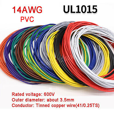 AU11.39 • Buy 14AWG PVC Electronic Cable Tinned Copper Stranded Wiring 600V High TEMP 105℃