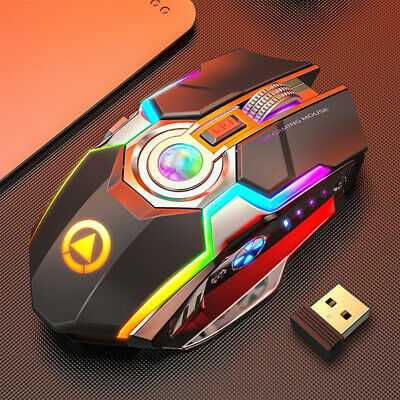 AU12.49 • Buy Wireless Mouse Gaming Silent Laser Optical 2.4GHz Game USB Rechargeable Laptop