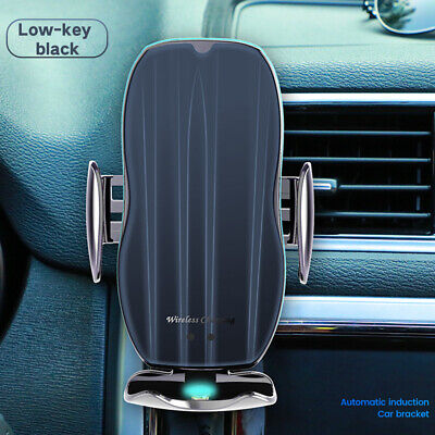 AU13.99 • Buy Qi Wireless Charger Car Mount Phone Holders Rack Smart Sensor Automatic Clamping