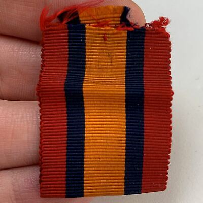 AU35.56 • Buy Original Boer War Spare Queens South Africa QSA Medal SILK Ribbon 3.75 Inches ZV