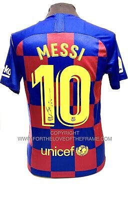 AU715.55 • Buy Lionel Messi Hand Signed Barcelona Soccer Football Home Shirt Jersey & COA