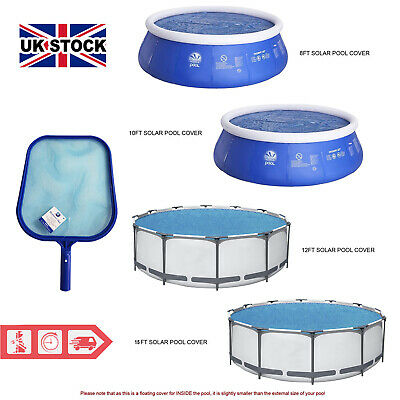£19.97 • Buy Solar Swimming Pool Cover (8, 10, 12 & 15ft) With Flat Pool Leaf Debris Skimmer