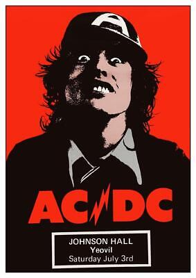 $15.94 • Buy AC/DC - POSTER - Live Concert 1976 UK  - HIGH VOLTAGE Tour Angus Young Wall Art
