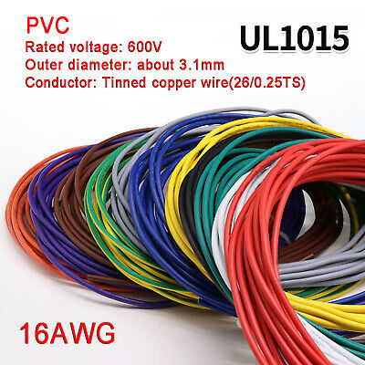 AU8.29 • Buy 16AWG PVC Electronic Cable Tinned Copper Stranded Wiring 600V High TEMP 105℃