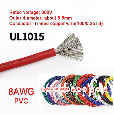 AU10.05 • Buy 8AWG PVC Electronic Cable Tinned Copper Stranded Wiring 600V High TEMP 105℃