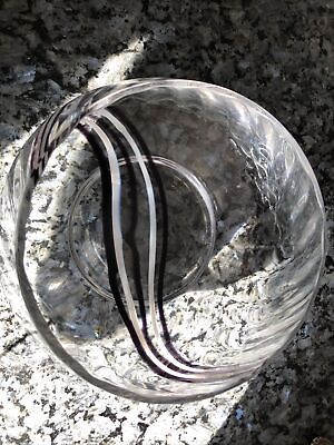 £16 • Buy Caithness Glass Bowl With Black And White Swirl