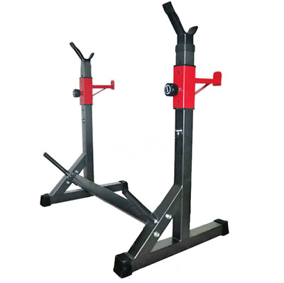 $ CDN102.91 • Buy Adjustable Squat Rack Fitness Muscle Power Weight Lifting Barbell Stand Home Gym