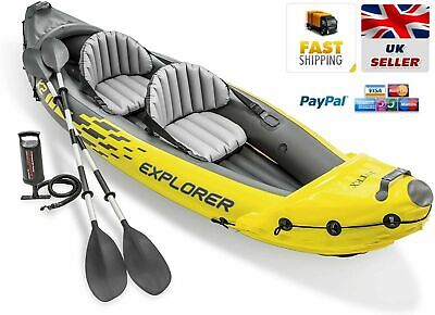 AU412.94 • Buy NEW QUALITY Intex Explorer K2 2 Person Inflatable Kayak + Pump & Oars